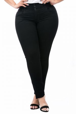 Jean Negro Tallas Grandes Para Mujer