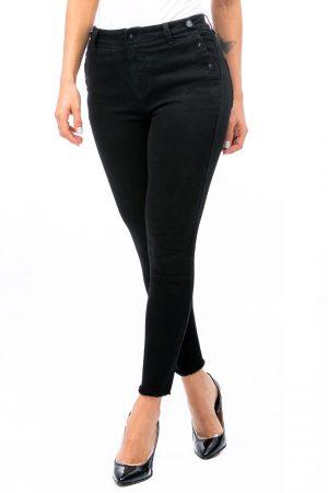 Jean Para Mujer Botones Tobillero Negro