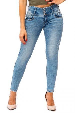 Jean para Mujer Tres Botones Tobillero