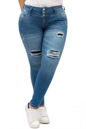 Jean para mujer Tallas Grandes Tobillero