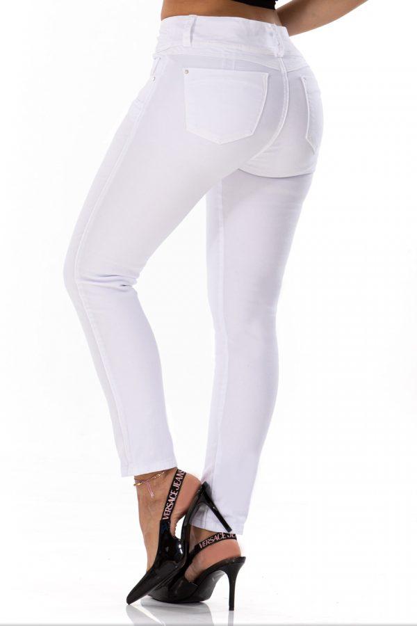Pantalón Clásico Blanco Silueta Ajustada