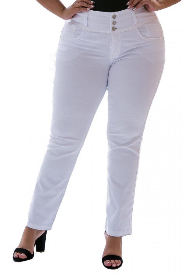 Pantalón Farichi Clásico Blanco Bota Recta